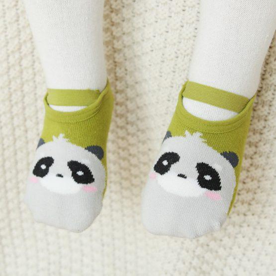 Meia infantil sapatilha bichinhos floresta com anti derrapante