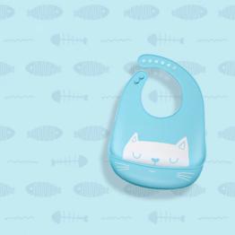 Babadores de silicone gatinho