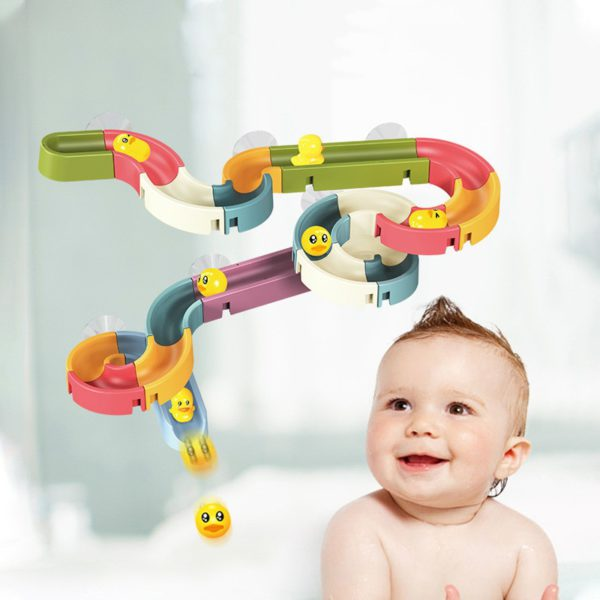 Brinquedo de banho corrida de patinhos
